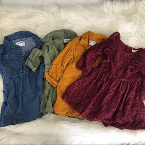 Lot of 4 Long Sleeve Dresses 2T